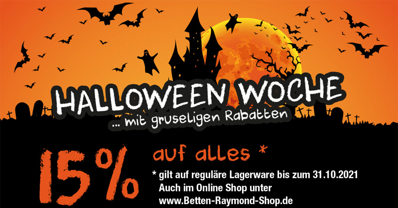 Halloween-Woche - 15 Prozent auf alles*
